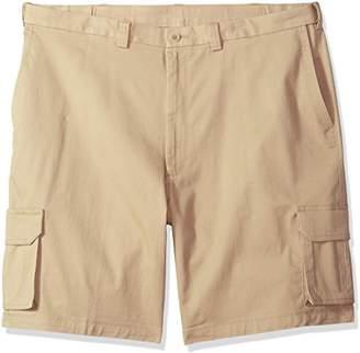 Haggar Men's Big and Tall Stretch Comfort Cargo Flat Front Short