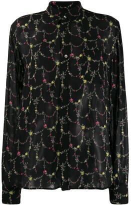 Junya Watanabe floral print blouse