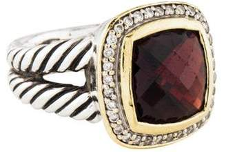 David Yurman Garnet & Diamond Albion Ring