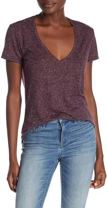 David Lerner Deep V-Neck Heathered Tee