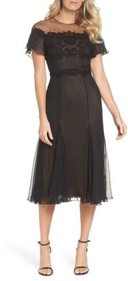 Tadashi Shoji Lace & Chiffon A-Line Dress