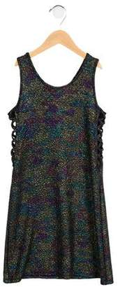 Flowers by Zoe Girls' Metallic Lace-Up Dress
