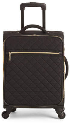 20in Quilted Spinner Checked Bag