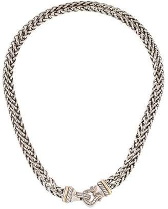 David Yurman Diamond Buckle Double Strand Necklace