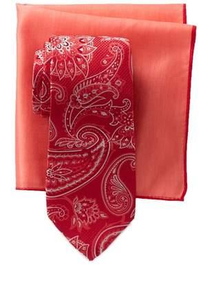 Ted Baker Large Paisley Silk Tie & Pocket Square Set