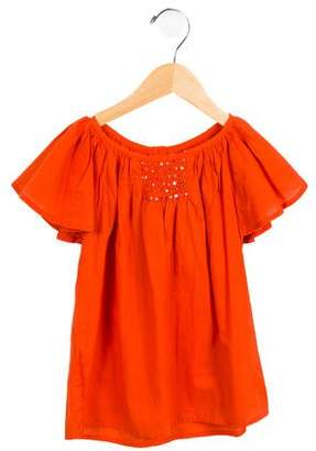 Moon Girls' Embellished Short Sleeve Top w/ Tags
