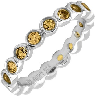 Simply Stacks Sterling Large Citrine Eternity Stackable Ring