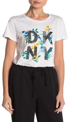 DKNY Logo Print Graphic Print T-Shirt