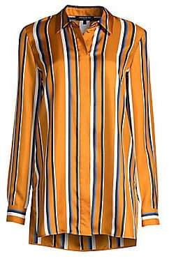 Lafayette 148 New York Women's Barry Multi-Stripe Silk Blouse