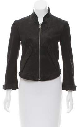 Theyskens' Theory Leather Zip-Up Jacket