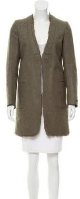 Undercover Rabbit Fur-Trimmed Short Coat