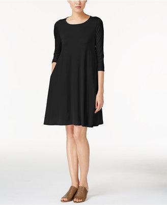 Eileen Fisher Lightweight Jersey Shift Dress $188 thestylecure.com