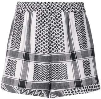 Cecilie Copenhagen tapestry pattern shorts