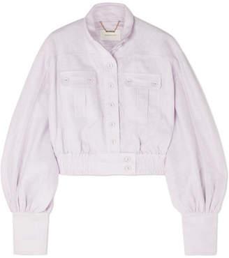 Zimmermann Ninety-six Cropped Linen Jacket
