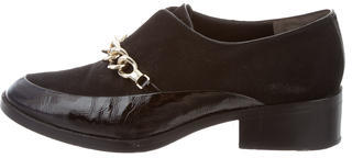 3.1 Phillip Lim3.1 Phillip Lim Suede Chain-Link Loafers