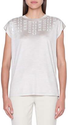 Akris Cap-Sleeve Magic Form T-Shirt Top