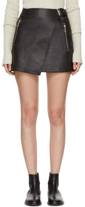 Etoile Isabel Marant Black Leather Kakili Miniskirt