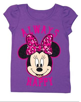 """Minnie Mouse """"Always Happy"""" Short Sleeve Graphic Tshirt (Toddler Girls)"""