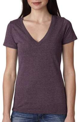 Clementine Apparel Women's Tri-Blend Deep V-Neck T-Shirt