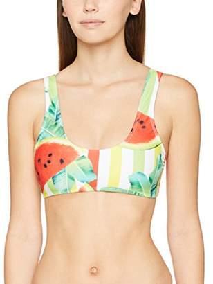 Jaded London Women's Watermelon Print Bikini Top,(Size: 12)