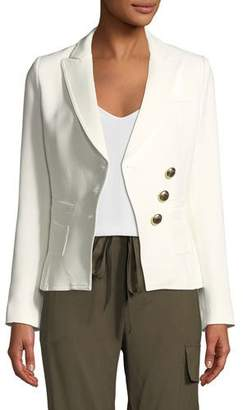 Smythe Double-Breasted Three-Button Wrap Blazer