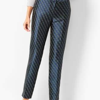 Talbots Jacquard Tailored Ankle Pants