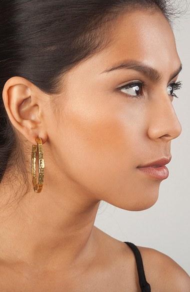 Women's Karine Sultan 'Brick' Open Hoop Earrings 2