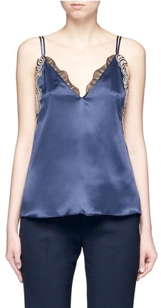 3.1 Phillip Lim 3.1 Phillip Lim Sequin floral lace silk camisole top