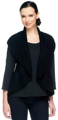 Vt Luxe VT Luxe Chunky Ruffle Convertible Loop Scarf Vest
