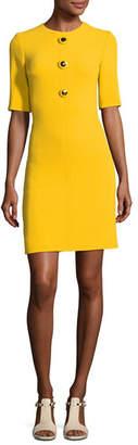 Michael Kors Crewneck Half-Sleeve Shift Dress