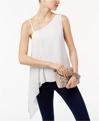 Inc International Concepts Popsicle One-Shoulder Top, Only at Macy's $59.50 thestylecure.com