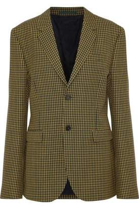 Marni Checked Wool-Tweed Blazer