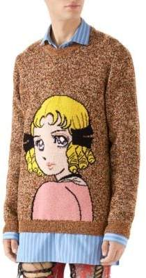 Gucci Manga Intarsia Wool Sweater