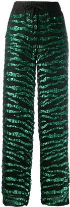 P.A.R.O.S.H. sequin-trim high-waist trousers