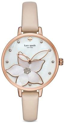kate spade new york Leather Metro Watch, 34mm $195 thestylecure.com
