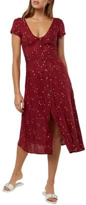 O'Neill Rina Star Print Woven Midi Dress