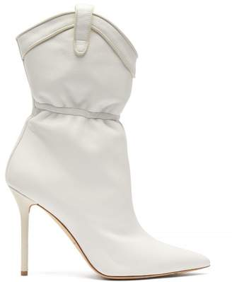Malone Souliers Daisy Leather Boots - Womens - White