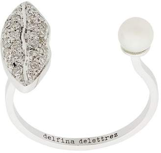 Delfina Delettrez 18kt white gold Lips Piercing ring