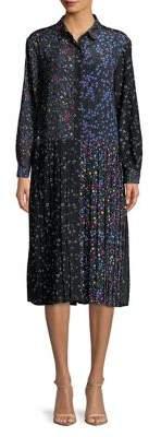 French Connection Aubine Pleated Midi Dress