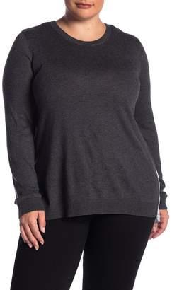 Susina Back Pleat Twofer Sweater (Plus Size)