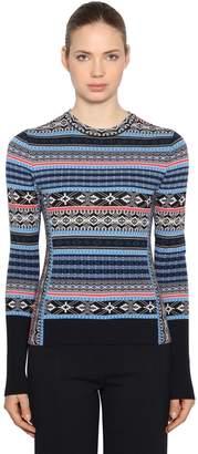 Sportmax Wool Jacquard Sweater