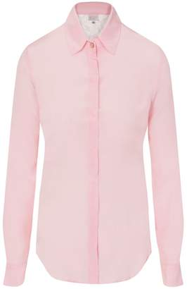 Sophie Cameron Davies - Pale Pink Fitted Silk Shirt