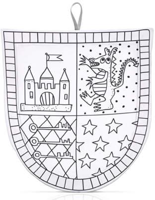 Sale - Déguisement é colorier avec 4 feutres bouclier du chevalier White - Marielle Bazard
