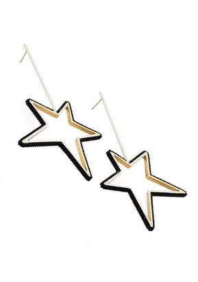 Mishky Large Beaded Star Earrings