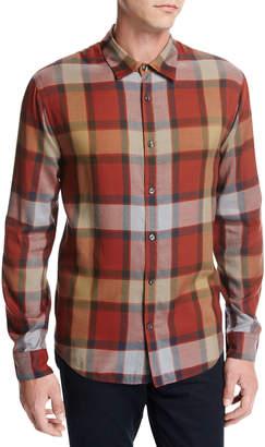 Vince Buffalo Plaid Sport Shirt, Orange