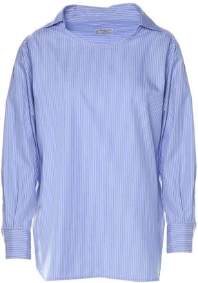 Alberto Biani Striped Cotton-poplin Blouse