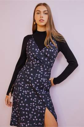 Finders Keepers MAE DRESS navy daisy