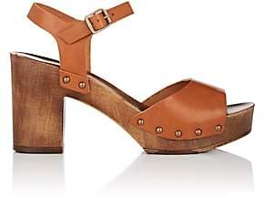 FiveSeventyFive Women's Leather Platform Sandals - Brown