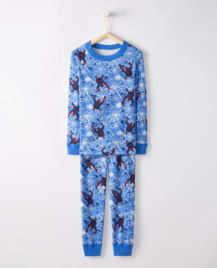 Hanna Andersson Marvel Spider-Man Long John Pajamas In Organic Cotton