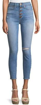 Alice + Olivia AO.LA by Alice+Olivia Good High-Rise Button-Fly Skinny Jeans